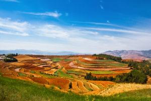 Czerwona ziemia w Dongchuan Biuro podróży Goforworld by Kuźniar
